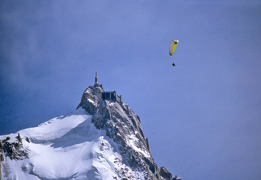 Veleggiando sul monte Bianco