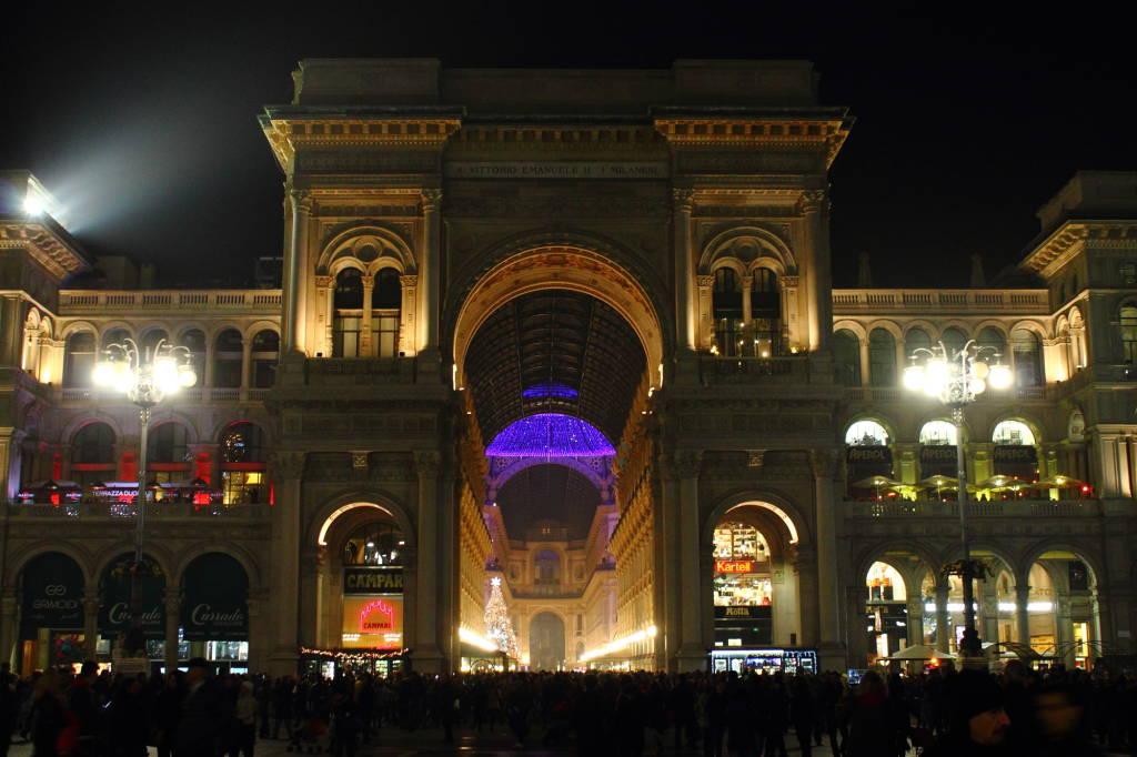 Galleria Vittorio Emanuele addobbata