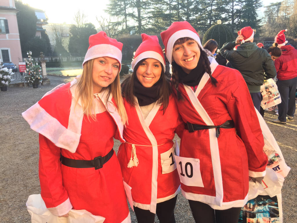 Corsa dei Babbi Natale a Varese