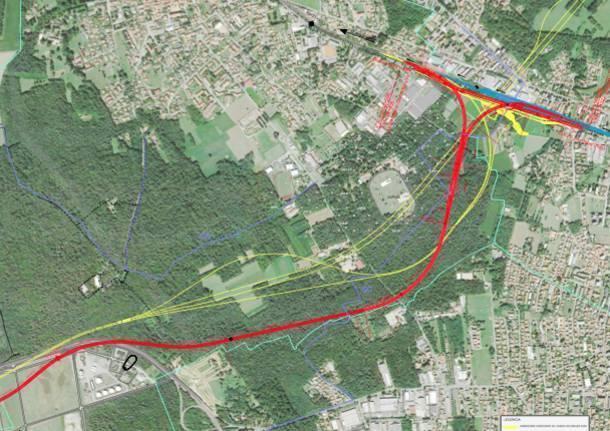 ipotesi percorso collegamento T2-linea del sempione