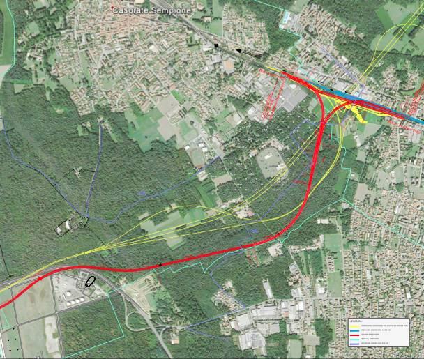 Il tracciato della ferrovia Malpensa-Gallarate