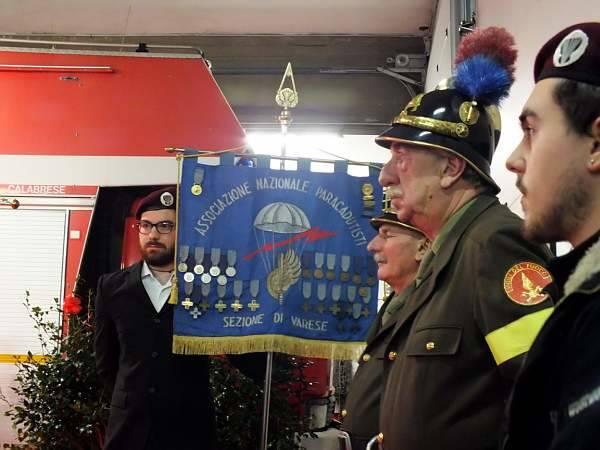 La messa di Natale dai Vigili del fuoco
