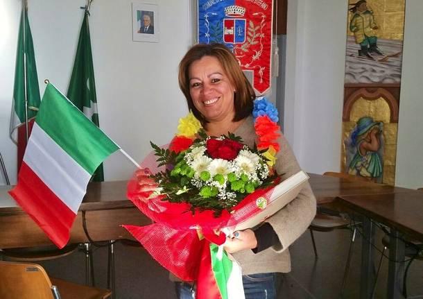 Ludyl riceve la cittadinanza italiana a Oggiona Santo Stefano