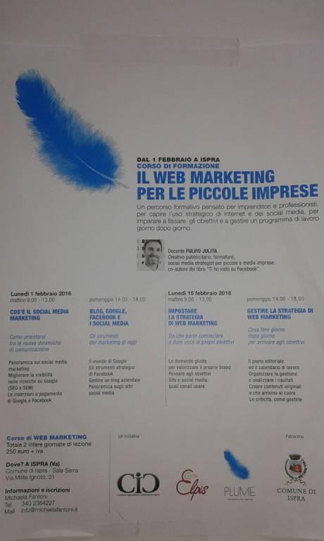 Corso di formazione: Il Web Marketing per le piccole imprese. PRIMA VENDI IL TUO MARCHIO POI IL TUO PRODOTTO