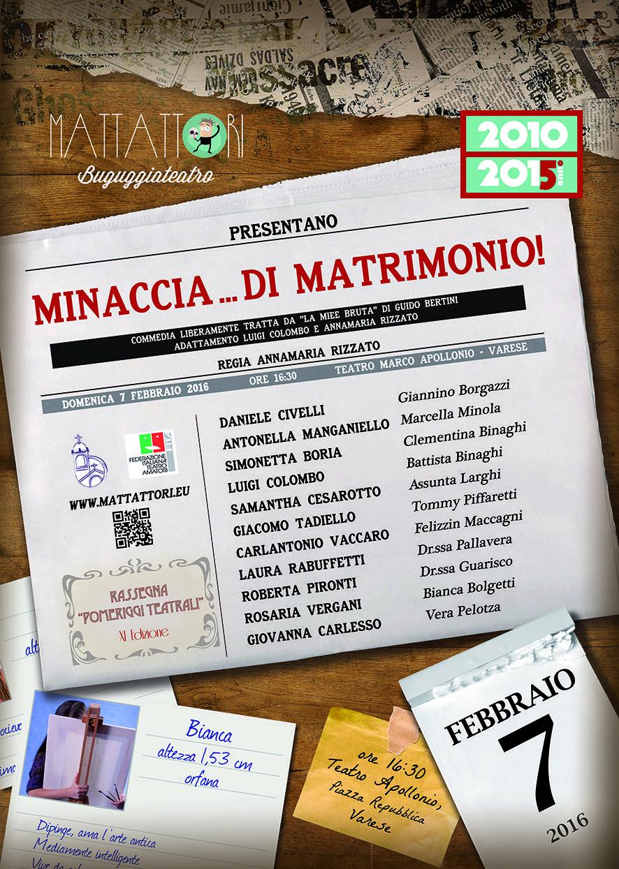 MINACCIA...DI MATRIMONIO!!!