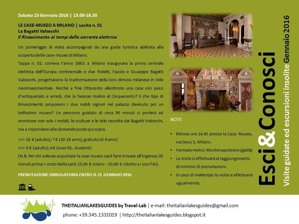 VISITA GUIDATA LE CASE-MUSEO A MILANO | uscita n. 01 - La Bagatti Valsecchi  Il Rinascimento ai tempi della corrente elettrica