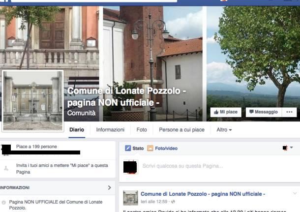 facebook Lonate Pozzolo Comune