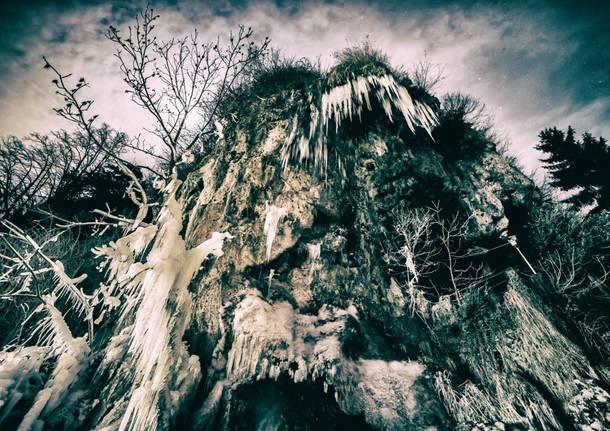 Grotte della Valganna. Il freddo quando cala la seria