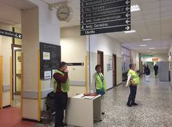 I volontari dell'accoglienza all'ospedale di Circolo