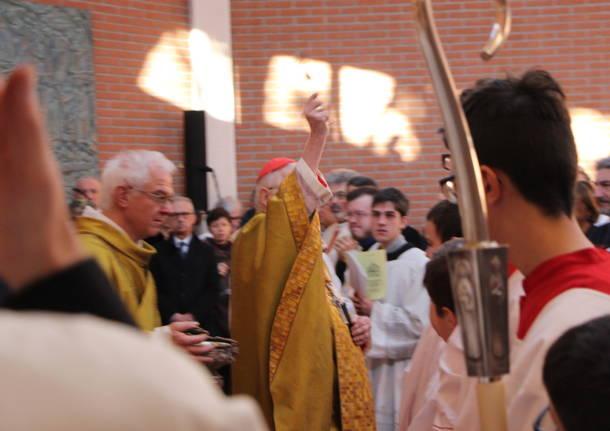 Il cardinale Scola all'ospedale di Tradate