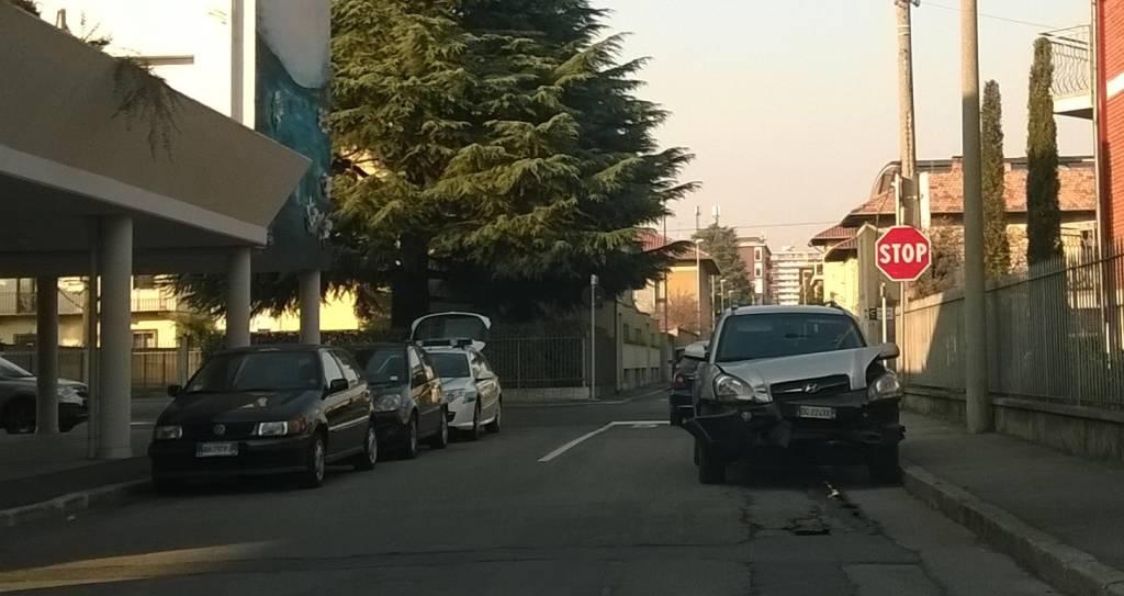 Incidente a Busto Arsizio in via Milazzo