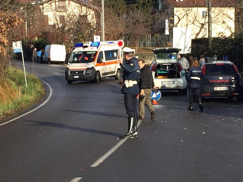Incidente stradale Carnago 12 gennaio 2016