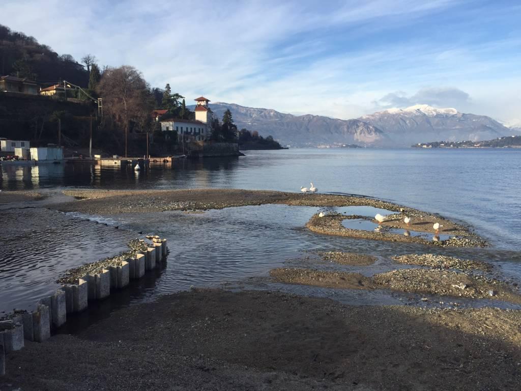 Lago Maggiore in secca