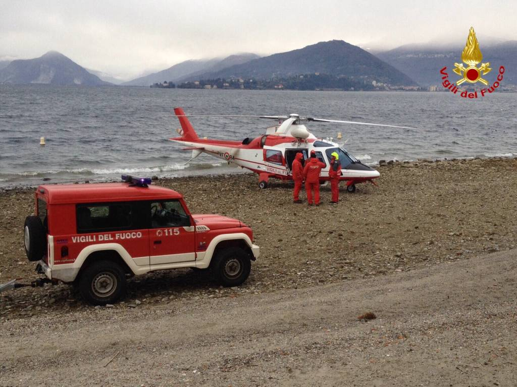 Ricerche Lago Laveno 8 gennaio 2016