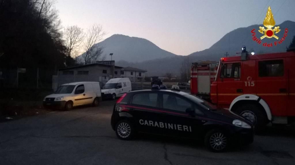 Vigili del fuoco a Brenta e Marchirolo