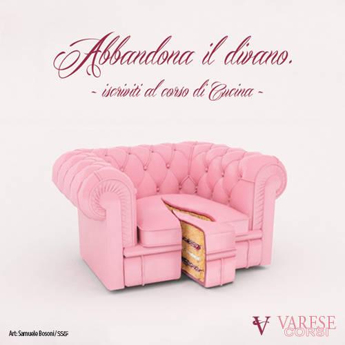 """""""Abbandona il divano"""": la curiosa pubblicità di VareseCorsi"""