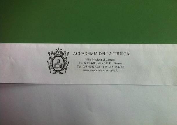 Accademia della Crusca lettera per Petaloso