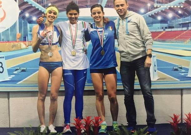 campionati atletica indoor atlete dell'ateneo di Varese