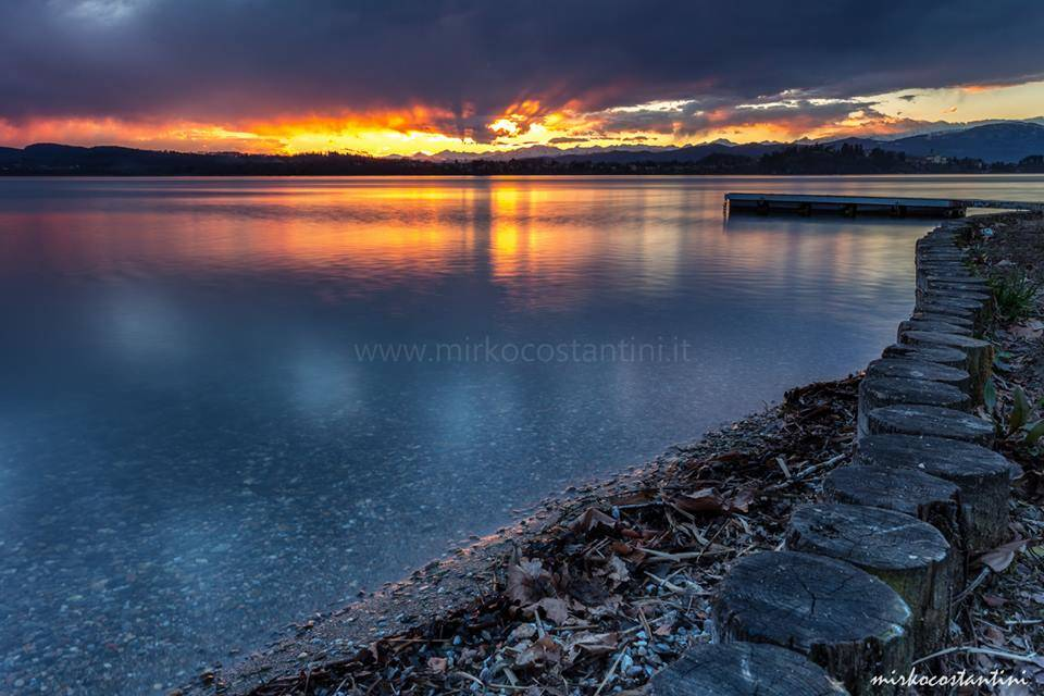 Il tramonto da Oltrona