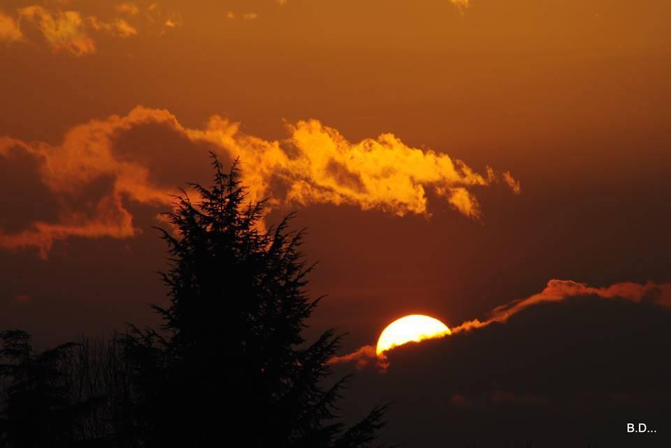 Il tramonto da Solbiate Arno