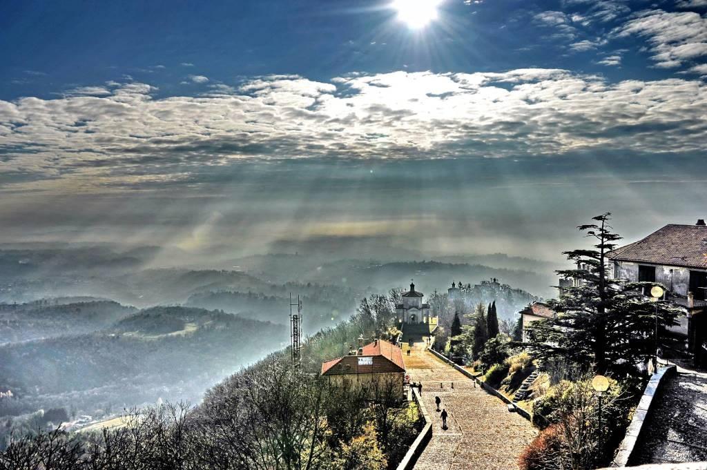 Il fascino della pianura vista dal Sacro Monte