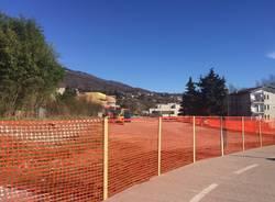 gavirate lavori al parcheggio della ciclabile 12 febbrario 2016