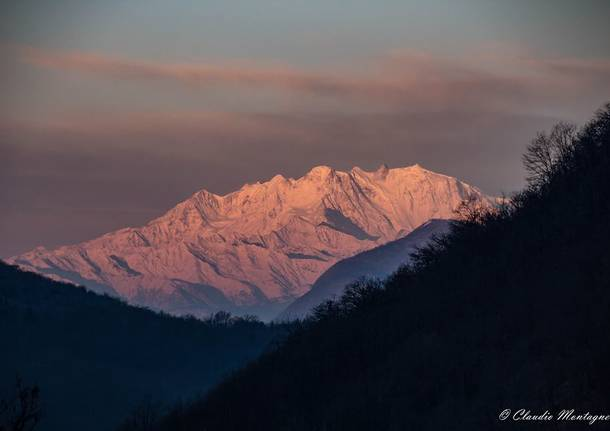 Il Monte Rosa dal Poncione di Ganna