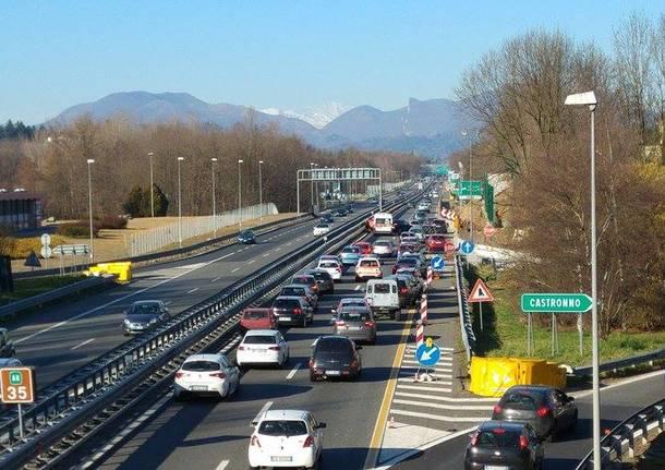 incidente autostrada a castronno