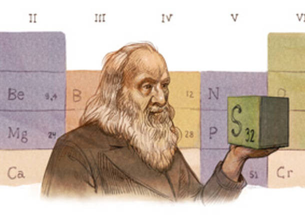 Google, Dmitrij Mendeleev in prima pagina