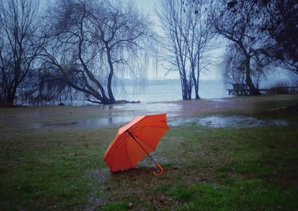 Pioggia, lago di Varese