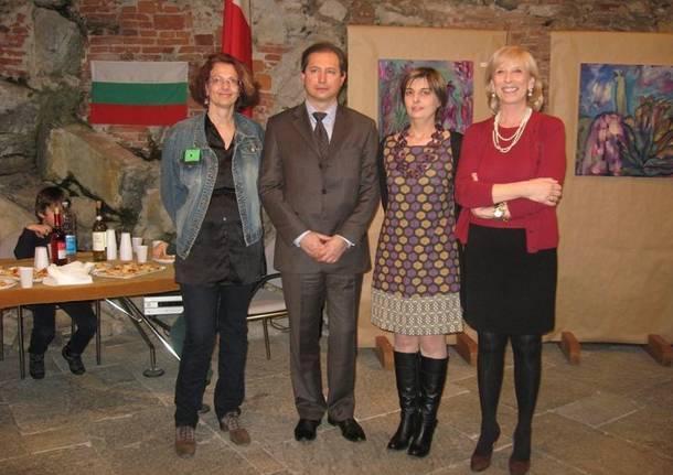 Mostra di pittura inaugurata alla presenza del Console Generale di Bulgaria ed il Sindaco di Ispra