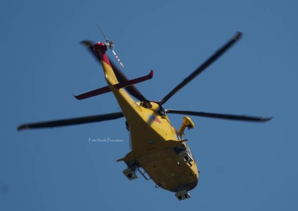 Elicottero Niguarda : Incidente in fabbrica ustionato un uomo