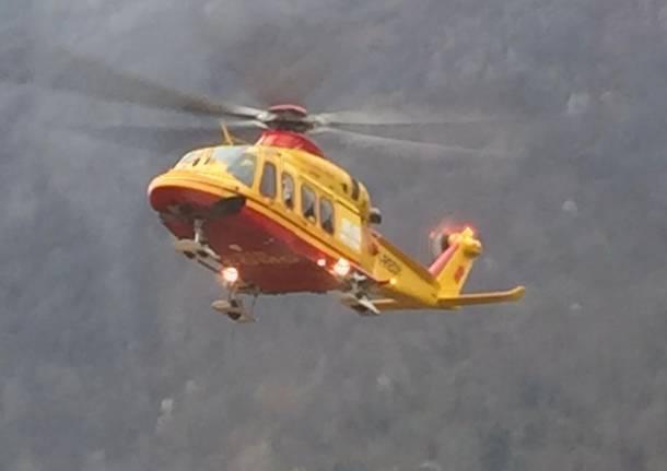 L'Aquila, precipita elicottero del 118 nella zona di Campo Felice