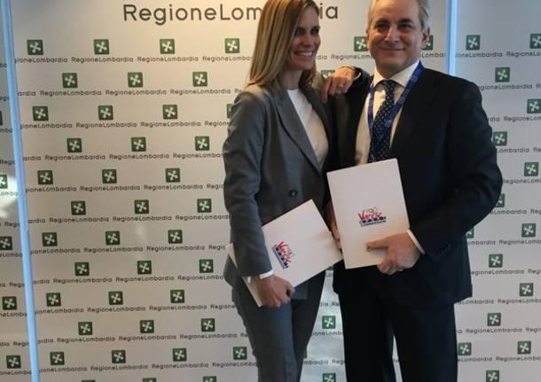 "Filippa Lagerback testimonial di ""Varese Sport Commission"""