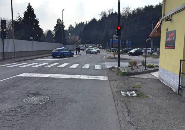 Incidente nel sottopasso di via Gasparotto