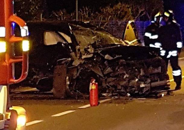Incidente nella notte a Cassano Magnago