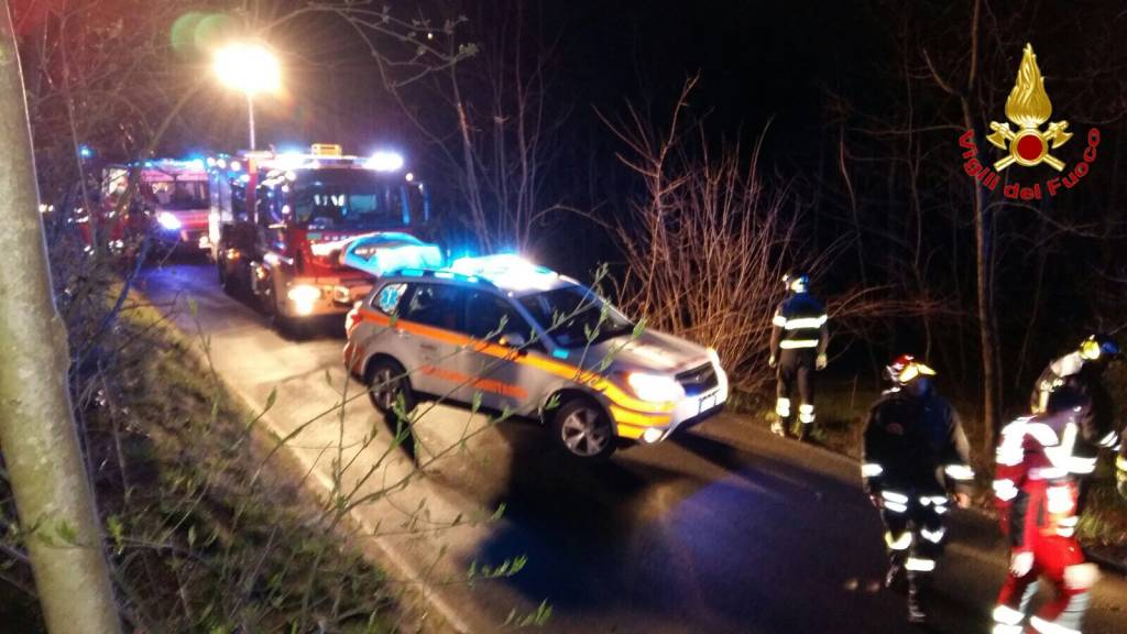 Incidente via Piana di Luco