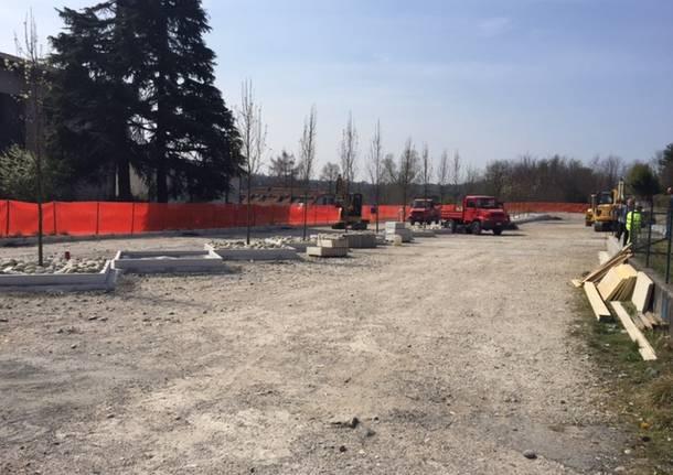 lavori parcheggio ciclabile marzo 2016