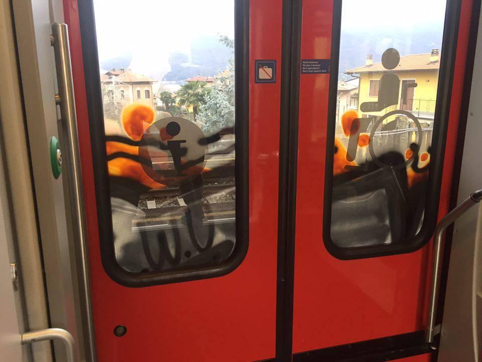Peter Griffin sul treno