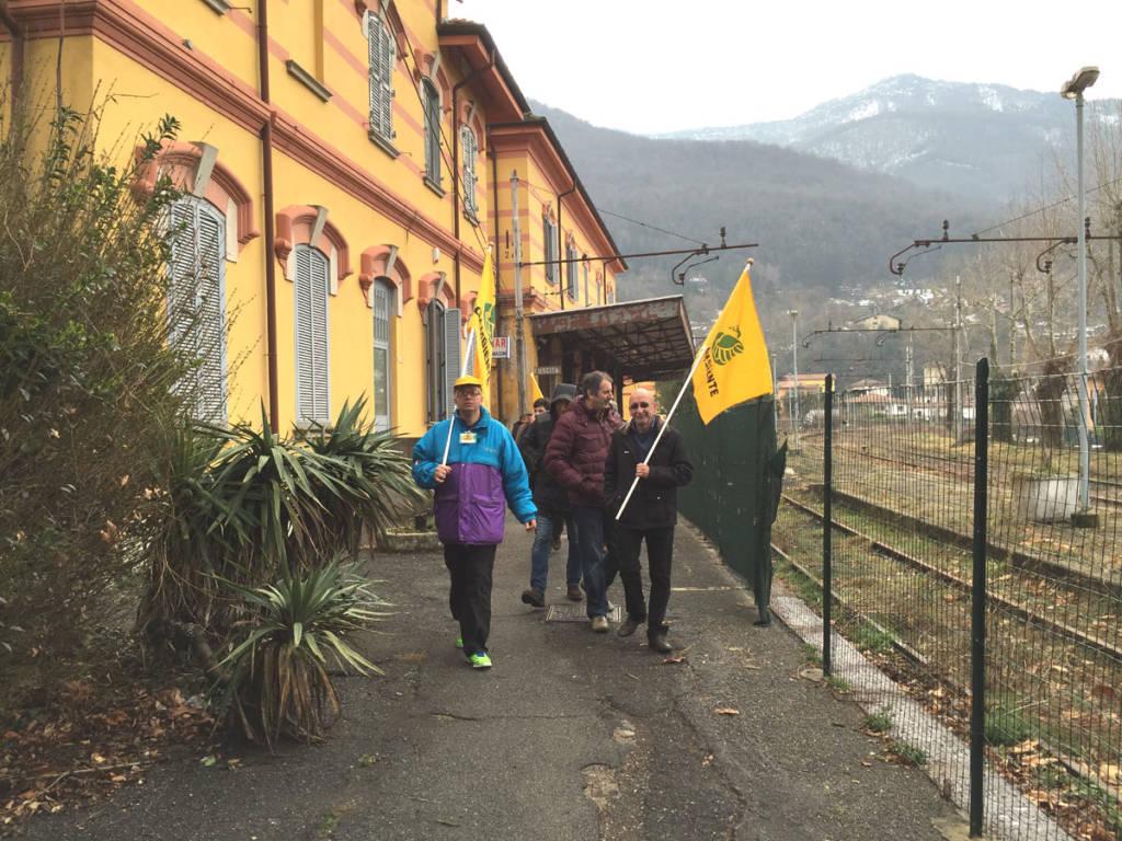 Porto Ceresio - manifestazione ferrovia
