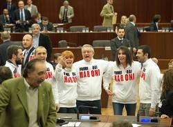 Protesta Movimento 5 Stelle Regione Lombardia