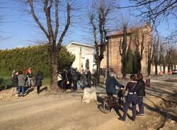 Protesta via 22 marzo Samarate