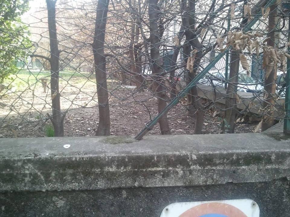Rete rotta Via Parravicini
