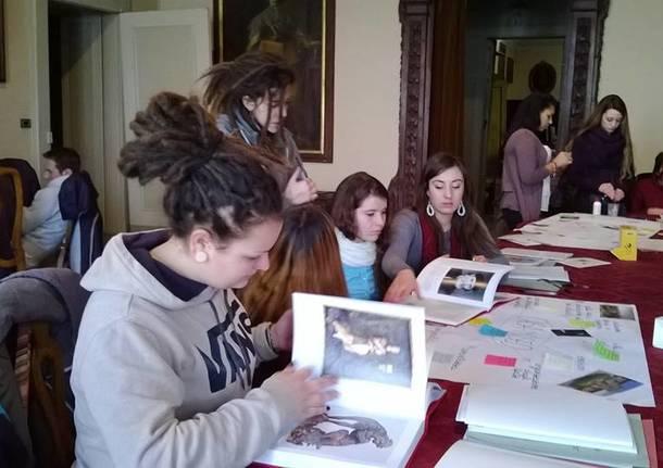 Studenti in stage a Villa Cagnola