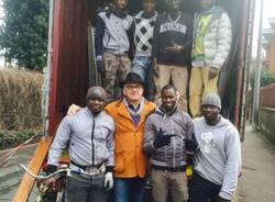 Un container da Varese all'Africa