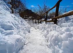 Una gita al sacro Monte dopo la neve