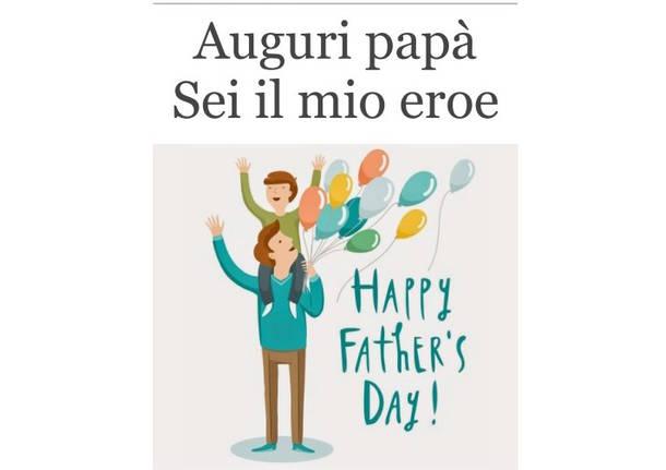 Famoso In un libro i vostri auguri per la Festa del papà YJ02