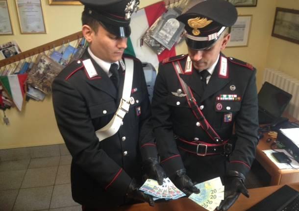 banconote false carabinieri