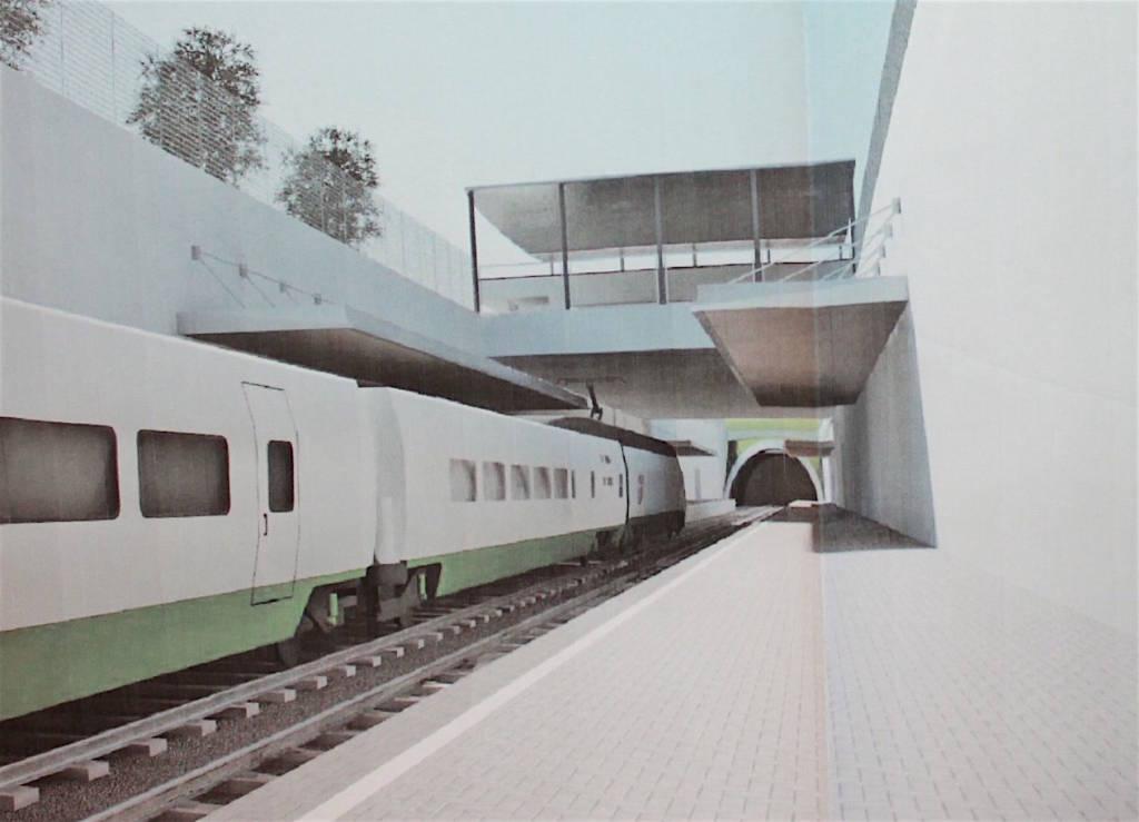 Cantello - disegni nuova stazione arcisate stabio