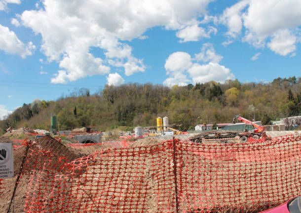 Cantello - il cantiere della Arcisate-Stabio aprile 2016
